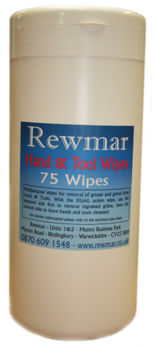 REWMAR MS Polymer Adhesive Hand & Tool Wipes...£7.49