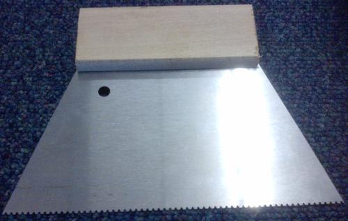 A2 Trowel Notch : Karndean a trowel spreader for vinyl tile adhesive