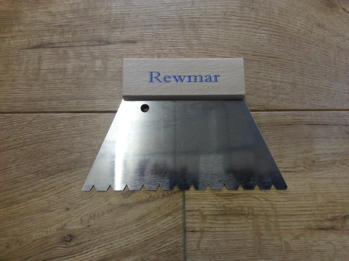 REWMAR 6mm B11 V-Notched Trowel/Spreader wood floor adhesive