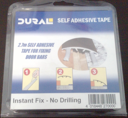 ADHESIVE STRIP by Dural for door bar plate threshold trim £2.49