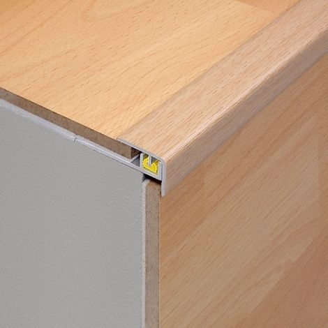 SILVER 2.7m Laminate Floor Step Edge for Stairs by Dural..£24.99