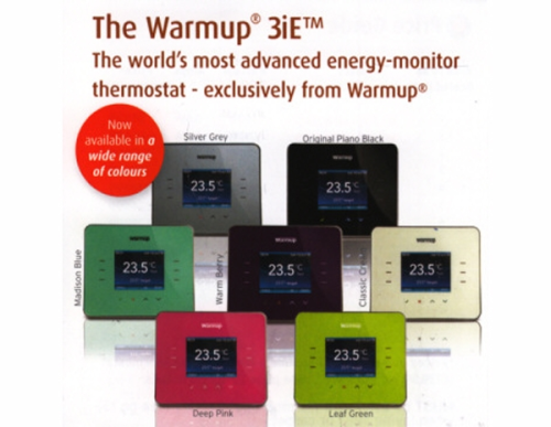 WARMUP 3iE Thermostatic Controller Silver,Green,Blue,Pink,Berry...online £116.99+vat