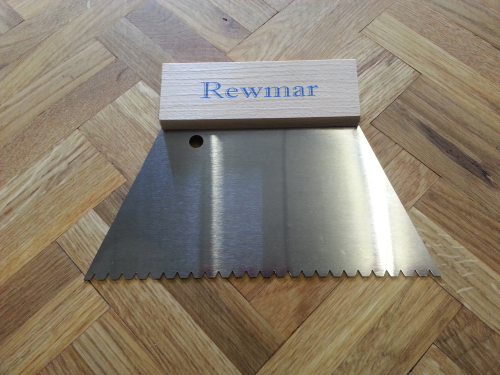 REWMAR 3mm B3 V-Notched Trowel/Spreader wood floor adhesive