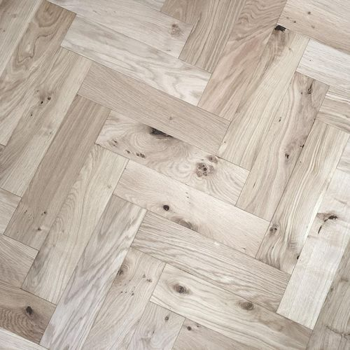 ZIGZAG ZB107 Unfinished Herringbone Parquet Oak