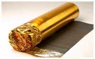 5mm Gold Foil Foam Acoustic Laminate Floor Underlay & DPM barrier